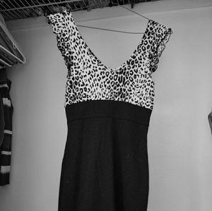 Black and White Mini Cocktail  Dress